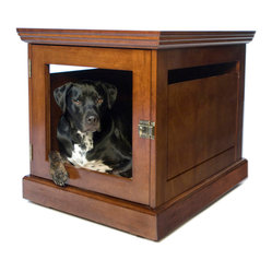 TownHaus Medium Mahogany Pet Den