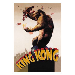 "Buyenlarge.com, Inc. - King Kong - Fine Art Giclee Print 24"" x 36"" - Another high quality vintage art reproduction by Buyenlarge. One of many rare and wonderful images brought forward in time. I hope they bring you pleasure each and every time you look at them."