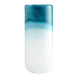 Cyan Design - Turquoise Cloud Vase - Large - Large turquoise cloud vase - blue and white
