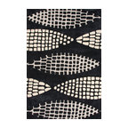 Jaipur Rugs - Hand-Tufted Geometric Pattern Polyester Black/Ivory Area Rug ( 3.6x5.6 ) - Style and value strike a perfect balance in Fusion, one of Jaipur's popular collections of contemporary hand-tufted rugs. This spirited series is guaranteed to make a statement in any room, with unexpected color combinations and attention-grabbing patterns. The Fusion Collection proves that fashion-forward doesn't have to carry an expensive price tag.