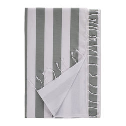 Nine Space - Deck Beach Towel, Grey - Hit the decks in style with this super absorbent towel that's beach friendly and ready to make waves. Woven from smooth Turkish cotton, its showy stripes repel sand. The flip side is a heavier weight cotton terry that's oh so soft.