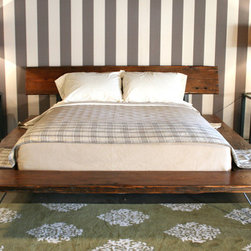 Railcar Platform Bed - This bed is simple enough to be humble but interesting enough to feel unique. It's a bed that you could dress up or down, and either way, it would look fantastic.