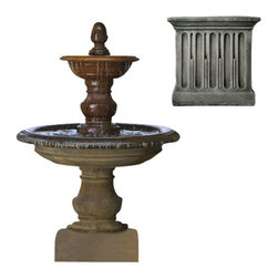 Campania International - San Pietro Fountain - Alpine Stone (AS) - Weighs 842 lbs. Shipping is available throughout the continental United States. As these fountains are made to order,_please allow 4 to 6 weeks for delivery. Drop ship is curbside delivery only.