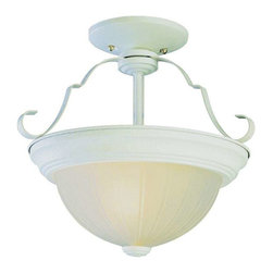 Trans Globe Lighting - Trans Globe Lighting 13211 AW Semi Flushmount In Antique White - Part Number: 13211 AW