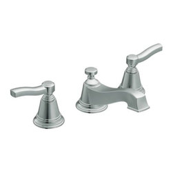 Moen - Moen TS6205 Chrome Rothbury Double Handle Widespread Bathroom Faucet - Product Features:  Metal faucet body construction ensures durability and reliability for the life of the faucet Covered under Moen s limited lifetime faucet warranty Premier finishing process - finishes will resist corrosion and tarnishing through everyday use The Rothbury line of products offers a vintage design that coordinates perfectly with both casual and luxurious decorating styles Double handle operation - handles rest on 1/4 turn valves ADA compliant - complies with the standards set forth by the Americans with Disabilities Act for bathroom faucets Low lead compliant - meeting federal and state regulations for lead content WaterSense certified product - using at least 30% less water than standard 2.2 GPM faucets, while still meeting strict performance guide lines Required valve system sold separately Designed for use with standard US plumbing connections All hardware needed for mounting is included with faucet  Product Technologies / Benefits:  M-PACT Common Valve System: This innovation from Moen gives the homeowner the up-most functionality and convenience when it comes to bathroom faucets. Designed to be a catch-all valve system, once M-PACT is installed you can upgrade the style of the lavatory or shower faucet without replacing nay of the faucet plumbing. WaterSense/Eco-Performance: To help make a difference on a global scale and further its role as industry leaders in eco-performance practices, Moen has established partnerships with a number of environmental organizations, including WaterSense. As of January 2009 all Moen bathroom faucets feature flow optimizing aerators; meaning they use less water, without sacrificing product performance.  Product Specifications:  Overall Height: 3-9/2