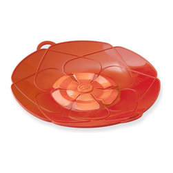 Kuhn Rikon Spill Stop Red - Tired of pots boiling over and making a mess on your stovetop? Use the Kuhn Rikon Spill Stopper and never worry about pots boiling over again! Designed in Germany  our Spill Stopper can be used as both a lid and a splatter guard.  Made of heavy silicone that is heat resistant up to 400° F.Product Features                        perfect for pasta  rice  soups  milk and starchy liquids            German invented and designed            Microwave and dishwasher safe            Use as both a lid and a splatter guard            Fits pots and pans 5 1/2 to 9 inches in diameter            Made of heavy silicone that's heat resistant up to 400° F