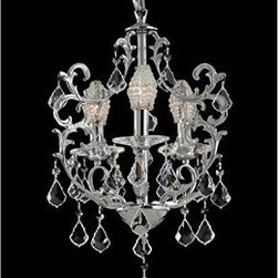 Dale Tiffany - Dale Tiffany Buchanan Three-Light 16'' Wide Mini Chandelier - Founded in 1979 Dale Tiffany started out manufacturing both art glass lamps and windows. Within two years the company's main focus became Tiffany-styled lamps and shades emphasizing high-quality reproductions of Louis Comfort Tiffany's designs. At the same time Dale became the first factory worldwide to standardize stained-glass production and became a national resource for a product category that had been only regionally produced. Today Dale Tiffany has become the world's foremost designer and manufacturer of fine art glass lighting and home accessories. Using only the highest quality genuine hand-rolled art glass Dale offers an extensive range of designs utilizing the copper foil technique an authentic glass assembly method originally developed by Louis Comfort Tiffany over 100 years ago. With this handcrafted process no two pieces are exactly alike making each design a treasured keepsake. Featuring stained glass reverse-painted glass hand-blown glass and many other techniques and inspired by the legendary designs of L.C. Tiffany Philip J. Handel Pairpoint and others Dale Tiffany has not only captured the timelessness of America's classic designers but utilizes it's own creative skills to develop unique designs that blend perfectly with today's current home fashion trends and lifestyles. Whether producing expensive replicas or affordable budget-priced merchandise Dale insists on the highest standards of quality and workmanship for every one of its products. Each glass shade is inspected on a light box to ensure brilliance of color pattern continuity and structural integrity. Each base is similarly inspected having been manufactured in accordance with UL and CUL standards. All products are then assembled tested and packed according to guidelines that meet or exceed industry standards ensuring only the highest quality reaches the consumer's home. So if your need is a table or floor lamp a hanging fixture or a wall sconce candle votives photo frames night lights or accent lamps Dale's extensive product lines offer the finest selection of art glass lighting and home accessories on the market.