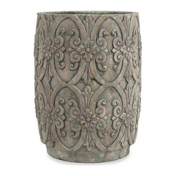 Chapman Large Flower Pot - With beautiful decorative embellishments, the large Chapman flower pot enhances any flowering plant or green foliage.