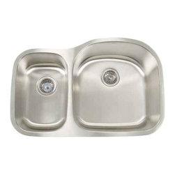 Artisan Manufacturing - Artisan 16-Gauge 31 1/8 x 20 1/2 40/60 Sink - AR3220-D97R Artisan Manufacturing Premium Premium D-bowl Undermount 16 Gauge Kitchen Sink