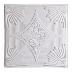 CT-201 Ceiling Tile - White - Made from UV stabilized .35 mm vinyl thermoplastic.These tiles may be used in a grid system. These tiles are easy to install, easy to clean, stain and water resistant, resource friendly and delivered direct to your door! Please note that there is no minimum order on our in stock ceiling skins, so you may order single tiles if you want to see what they look like before placing a larger order.
