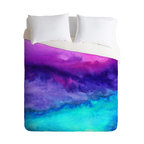 DENY Designs - Jacqueline Maldonado The Sound Duvet Cover - Turn your basic, boring down comforter into the super stylish focal point of your bedroom. Our Luxe Duvet is made from a heavy-weight luxurious woven polyester with a 50% cotton/50% polyester cream bottom. It also includes a hidden zipper with interior corner ties to secure your comforter. it's comfy, fade-resistant, and custom printed for each and every customer.