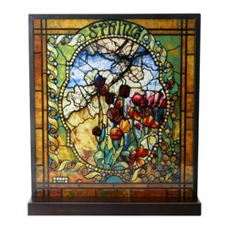 Summit - Tiffany Spring Stained Glass - This gorgeous Tiffany Spring Stained Glass has the finest details and highest quality you will find anywhere! Tiffany Spring Stained Glass is truly remarkable.