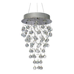 Lightupmyhome - Chrome String Crystal Chandelier Semi Flush Mount, Adjustable - This gorgeous chandelier measures glistens from every angle.  It is covered in crystals that shimmer from below.