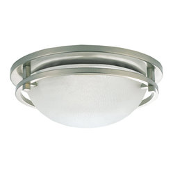 Sea Gull Lighting - Sea Gull Lighting 75114-962 Eternity Brushed Nickel Flush Mount - Sea Gull 75114-962 Satin Nickel Flush Mount