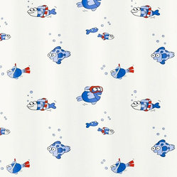 Freddy the Fish PVC-Free Kids Shower Curtain