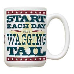 Canine Wisdom #1 Mug - 15 oz. Ceramic Mug. Dishwasher and microwave safe It has a large handle that's easy to hold.  Makes a great gift!