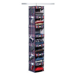 Home Products - 7 Shelf Hanging Organizer Stripe - HOMZ 7-Shelf Hanging Organizer Stripe