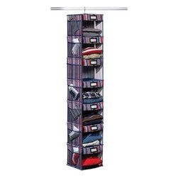 Home Products - 7 Shelf Hanging Organizer Stripe - HOMZ 7-Shelf Hanging Organizer Stripe
