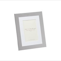"""Silver-Plated Engravable Picture Frame, 4 x 6"""" with optional Horizontal Personal - Surround favorite images in classic silver-plated frames that are crafted to last. 8"""" wide x 10"""" high (holds one 4 x 6"""" photo) 9"""" wide x 11"""" high (holds one 5 x 7"""" photo) 12"""" wide x 14"""" high (holds one 8 x 10"""" photo) 16"""" wide x 19"""" high (holds one 11 x 14"""" photo) 14"""" wide x 10.5"""" high (holds three 4 x 6"""" photos) 16.5"""" wide x 9.25"""" high (holds two 5 x 7"""" photos) Made of steel with a silver-plated finish and a white mat. Display both vertically and horizontally. Monogramming is available at an additional charge. Can be engraved with up to 20 characters per line, each line centered above and below the photo opening. Catalog / Internet Only."""