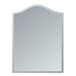 None - Amelia Modern Bathroom Mirror - Strike a pose in front of this stylish and modern frameless wall mirror with a deep scallop bevel border. This mirror is perfect for a hallway,living room or bathroom.