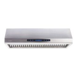 """Cavaliere - Professional Series AP238-PS63-30 30"""" Canopy Pro Style Under Cabinet Range Hood - The AP238PS63 under cabinet range hood comes in 3 different sizes 30 36 and 42 The touch sensitive with electronic LCD control panel give this range hood a modern look The 4 different speed level will ensure you have the right speed for any situation"""