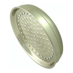 """Kingston Brass - Kingston Brass Satin Nickel Victorian 8"""" Rain Drop Shower Head K124A8 - Refreshing in its simplicity, Rustic style highlights natural beauty and a rugged, resilient spirit.  Thanks to the unpretentious roots, organic textures, shapes and natural warmth, it's become as popular in the heart of the city as it is out in the woods.. Product Name: 128mm Refined Rustic Rustic Iron Cabinet Pull. Finished: Rustic Iron Finish. Included: Mounting Hardware Included. Size Type: Center To Center. Screw Center to Center in Inches: 5.03937. Diameter: . Diamension Length in Inches: 6.91. Diamension Width Inches: 0.88. Diamension Height Inches: 1.19. Weight in OZ: 4.192. Product Type: Pulls. Style: Rustic. Finish Name: Rustic Iron. Appearance Finish: Antiqued. Color Palette: Blacks. Basic Shape: Geometric/Angular"""