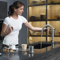 Kohler - KOHLER - Sensate Touchless Kitchen Faucet - The Sensate touchless faucet frees your hands so you can speed through prep, cooking and cleanup without spreading messes and germs throughout the kitchen.