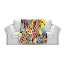 DiaNoche Designs - Throw Blanket Fleece - Watching and Waiting - Original Artwork printed to an ultra soft fleece Blanket for a unique look and feel of your living room couch or bedroom space.  DiaNoche Designs uses images from artists all over the world to create Illuminated art, Canvas Art, Sheets, Pillows, Duvets, Blankets and many other items that you can print to.  Every purchase supports an artist!