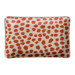 Michael Devine Ltd. - Dottie Cell Phone Tray, Coral - Beautiful hand silk screened Michael Devine fabric is skillfully laminated to create each delightful and useful piece.  The Dottie cellphone tray is incredibly useful for keeping track of the phone or jewelry.