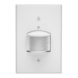 RAB - RAB Smart Box 500W Occupancy Sensor - Control 500 watts from an unobtrusive box mounted sensor. Full 180 degree view with tilt-down adjustment. Integral oversize wallplate included> fits single gang cast box.