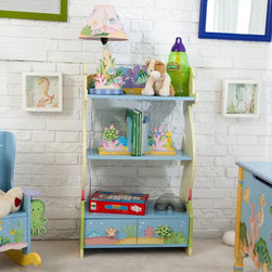 Fantasy Fields - Fantasy Fields Under the Sea Book Shelf - W-7490A - Shop for Wall Hooks Racks and Shelves from Hayneedle.com! Encourage your child's imagination with the Teamson Under the Sea Book Shelf. This shelf featuring two adorable sea horses on the sides is hand-carved and hand-painted with a high quality sturdy construction so it will last for years. Whether holding your child's favorite books toys or other valued belongings this shelf will add a touch of fun to any room. The Under the Sea bookshelf measures 22L x 11.5W x 38H inches and is intended for children ages 3 and up. About Teamson DesignBased in Edgewoood N.Y. Teamson Design Corporation is a wholesale gift and furniture company that specializes in handmade and hand-painted kid-themed furniture collections and occasional home accents. In business since 1997 Teamson continues to inspire homes with creative and colorful furniture.