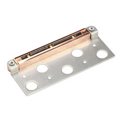 """Landscape - Landscape New Construction 3 LED - w/ Bracket (6.9"""") Deck Light X-OC54751 - This low voltage (12 volts) Kichler Lighting new construction outdoor deck light features three LED light sources, a linear shape and a Copper finish for a clean but stylish look."""