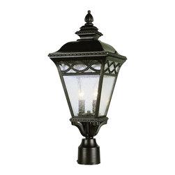 Trans Globe Lighting - Trans Globe Lighting 50513 BRB 2-Light Traditional Outdoor Post Lantern Light - Trans Globe Lighting 50513 BRB 2-Light Traditional Outdoor Post Lantern Light
