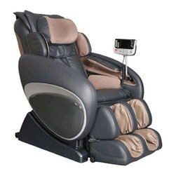 "Osaki OS-4000 Executive Reclining Zero Gravity Wellness Massage Chair - Features:- Zero gravity design- Designed with a set of S-track movable intelligent massage robot, special focus on the neck, shoulder and lumbar massage according to body curve- Automatically detect the whole body curve as well as make micro adjustments, which brings more humanistic and scientific massage enjoyment- Designed with six unique auto-programs: Healthcare, Relax, Therapy, Smart, Circulation and Demo- Automatic massage for the upper body (shoulder, neck, back and lumbar), the low body (buttock, thigh, calves and feet)- Manual massage for the upper body with three options, full body, partial and fixed- Six Massage styles - rolling, kneading, clapping, shiatsu, Swedish and combo- With five levels of speed & intensity- Three kinds of width adjustable settings, Wide, Medium and narrow- Air pressure massage for back (two airbags), with five intensity options- Air pressure for lower body (twenty-six airbags), with five intensity options- Powerful vibration massage for buttocks- Calf rest can be lifted and stretched, backrest can be lifted- LCD displayer- Auto timer 5-30 options- Wireless mini-controller- 32 air bags, 10 in the feet, 10 in the calves, 3 in the seat and 2 in the back. 2 in the shoulders, 3 neck & 3 in the hips- Air & Vibration Arm Massage- Hip Air Massage- Vibration Seat Massage- Lower Back Heat Therapy- Air Squeeze Neck massage- Shoulder Air Massage673b width=""580"" height=""306"">673c width=""585"" height=""249"">"