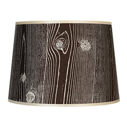 Lights Up! Faux Bois Dark Lamp Shade - I like the design of this eco-friendly light so much that I could design a rustic-themed nursery around this one piece. The light is made from 100-percent-recycled plastics and water-based inks, so you can feel good about your purchase.
