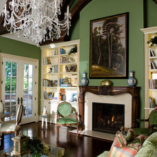 Traditional Living Room by Kobolak & Son Custom Cabinetry