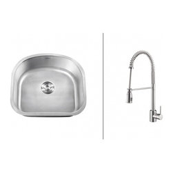 Ruvati - Ruvati RVC2476 Stainless Steel Kitchen Sink and Chrome Faucet Set - Ruvati sink and faucet combos are designed with you in mind. We have packaged one of our premium 16 gauge stainless steel sinks with one of our luxury faucets to give you the perfect combination of form and function.