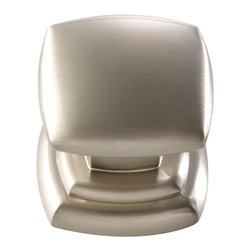 Hickory Hardware - Euro-Contemporary Satin Nickel Cabinet Knob - Often characterized with clean, sleek lines. Marked with solid colors, predominantly muted neutrals or bold bunches of color. An emphasis on basic shapes and forms.