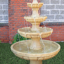 Outdoor Classics - Outdoor Classics Four Tier Courtyard Fountain -