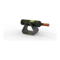 Decorpro - Vintages Wine Bottle Holder - VINTAGES is a simply designed bottle holder or display. It is perfectly at home on a counter top or mantle. The beautiful gunmetal grey and its clean sharp shape, complemented with a distinguished bottle of wine or scotch makes a bold statement. VINTAGES makes a great gift! Within seconds this product can be converted into a Karacell and/or Taurus firepot, simply by buying the Chrome Cup or Painted Cup sold separately.