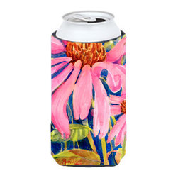 Caroline's Treasures - Flower - Coneflower Tall Boy Koozie Hugger - Flower - Coneflower Tall Boy Koozie Hugger Fits 22 oz. to 24 oz. cans or pint bottles. Great collapsible koozie for Energy Drinks or large Iced Tea beverages. Great to keep track of your beverage and add a bit of flair to a gathering. Match with one of the insulated coolers or coasters for a nice gift pack. Wash the hugger in your dishwasher or clothes washer. Design will not come off.