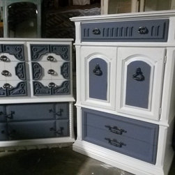 Custom Hand painted Armoire/ Hutches -