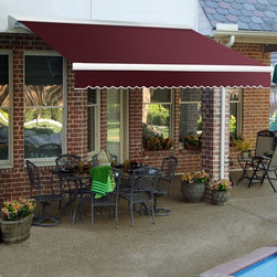 Awntech - Awntech DESTIN 16 ft. Motorized Retractable Awning - DTL16-A - Shop for Windows and Hardware from Hayneedle.com! More about BEAUTY-MARKConstructed of powder-coated steel and/or structural aluminum BEAUTY-MARK frames are engineered to endure rough weather conditions. These outdoor products have been engineered and tested to withstand excessive wind and snow loads. BEAUTY-MARK fabrics are comprised of state-of-the-art materials that are moisture- mildew- soil- and sometimes fire-resistant. SuperStrength lof monofilament threads are second to none with built-in UV blockers. They skip the cotton core that most other awning threads have which means seams have less chance of rotting or breaking apart.About AwntechBringing you BEAUTY-MARK awnings - a name synonymous with classic design and quality workmanship - Awntech's products range from prepackaged lightweight modular units to high-end ornamental works of art. They offer competitive prices on products of superior quality and durability that are easy to install. Awntech strives to bring you high-quality designer modular structures as mass production prices.A leader in the awning industry Awntech responds to the needs of do-it-yourself home improvement and business owners as a proven supplier of high-quality durable and affordable awnings structures accessories and materials for commercial and residential use.
