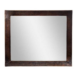 The Copper Factory - Copper Factory Copper Framed Rectangular Mirror Copper 25 x 21 Inch - Copper Factory Copper Framed Rectangular Mirror Copper 25 x 21 Inch
