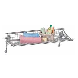 "Renovators Supply - Shelves Chrome Train Towel Shelf 29 1/2"""" Long x 9"""" Deep 