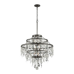 Troy Lighting - Troy Lighting F3809 Bistro Single Tier Chandelier - Whimsical Two Tier Chandelier in Graphite from the Bistro Collection by Troy Lighting.