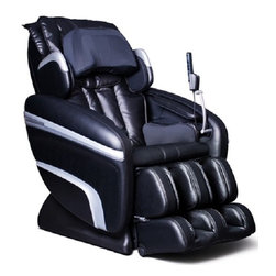 Osaki OS-6000 Reclining Zero Gravity Massage Chair /w Remote & Music Sync - The ly released OS-6000 massage chair is controlled by a microcomputer that performs various intelligent massage styles and combinations, like Kneading, Tapping, Clapping, Shiatsu, Rolling, Vibration and Air Massage.Features:- Computer Body Scan - The ly designed and equipped OS-6000 is built on an S-track rolling technology so that the roller heads can provide a more consist pressure massage throughout the back. Traditionally massage chairs have been designed with a linear vertical motion, preventing even pressure in the lower and upper back. Designed with a set of S-tracks & 3D technology, it allows the rollers to focus on the neck, shoulder and lumbar massage areas according to body's curvatures- Zero Gravity - The multi stage zero gravity position will minimize the vertical pressure along the spine axis.- Quad Roller Head Massage System - The OS-6000 is equipped with twin rollers to mimic the feel of human thumbs & fingers, enhancing the massage experience.- 51 Air Bag Massagers - Fifty-one air bags are accurately placed to massage the vital areas such as the neck, shoulder, back, seat, arms, palms, calves, feet and the lumbar area to add extra comfort and support.- Automatic Leg Scan - The calf and foot massager is capable of making adjustment according to each individual's leg length to ensure that the massage air bags are concentrating on the correct areas.- Music Sync Massage - Music sync with two speakers in the backrest and will provide a vibration massage according to the pace of the music.- Remote Control - 6 Auto-programs: The OS-6000 has 6 unique preset programs.- In the manual massage mode for the upper body there are three options; Six methods with various levels of speed, intensity that may be adjusted and three kinds of width for the roller heads.- The handheld remote has a bright LED display for easy use and operations.- The chair is equipped with MP3/iPod docking to enjoy your music while being massaged.- Chromo therapy - LED blue ambient lights on the side panels create a chromo therapeutic environment when in a dark room.- Hip and pelvis Massage - there are 2 sets of air bags placed on the sides of the seat for hip compression. The Air will inflate squeezing inwards massaging thighs & hips. Seat base measures 17 inches.- Outer Shoulder Massage - Located on the outer shoulders are air bags designed to compress and apply a inward squeezing pressure using air massage technology.- Pillow Neck Squeeze Massage - Located in the outer part of the head pillow there are 2 air bags which inflate creating a squeeze like fell along the back of the neck. This soothing feature will loosen neck tension and compliments the roller massage.- Auto-timer - 5-30 minutes of usage can be programmed. This is a safety measure so that if the user falls asleep the massage will not keep running possibly causing muscle sores.- iPod & MP3 Attachment - for your pleasure and convenience located just behind the remote is a storage compartment for your MP3 or ipod/iPhone with speaker connector. Play your favorite music from your device directly to the chair. High quality compact speakers have been mounted in the shoulder massagers aimed at your ears for clear crisp sound.- Fully Automatic Recline - The automatic backrest reclines to 170 degrees while the leg rest has a 90 degree range674d674e674c674f