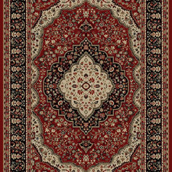 "Concord Global - Red Kerman Ankara Area 2'2"" x 7'3"" Runner Rug Concord Global - The Ankara collection is made of heavy heat-set olefin and has the look and feel of an authentic hand made rug at a fraction of the cost. New additions to the line include transitional patterns that are up to date in the current fashion trend. Made in Turkey"