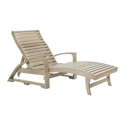 C.R. Plastic Products - C.R. Plastics St. Tropez Chaise Lounge with Wheels in Beige - Can be used for residential or commercial use, Ergonomically designed, Heavy 78 gauge plastic lumber 12 used by competitors, All stainless steel hardware, No painting, No slivers, No Rot, Completely waterproof