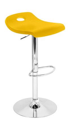 "Lumisource - Surf Bar Stool, Yellow - 16"" W x 16"" L x 27 - 36"" H"